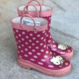 Hello Kitty Rain polka dots  Boots